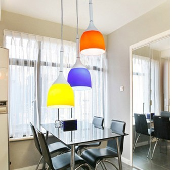 Restaurant chandeliers [Huamin Lighting] wholesale selling modern home restaurant chandelier hanging bright tricolor(China (Mainland))
