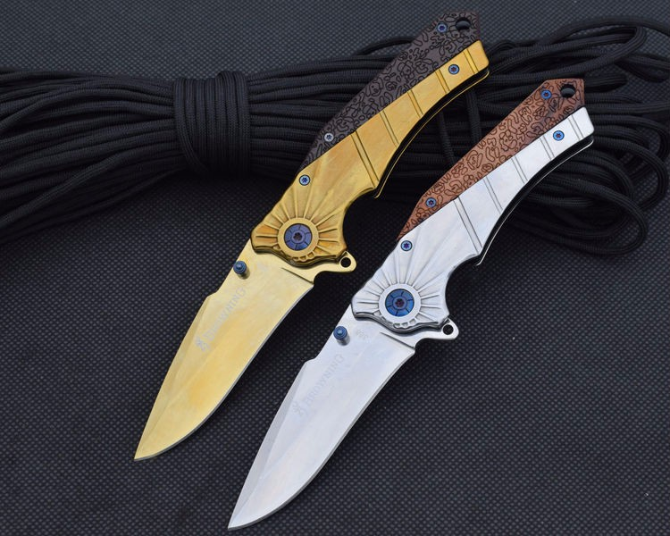 Buy 7CR17MOV Steel Blade Folding Knife Browning Pocket Knife  Survival Hunting Knifes Tactical Camping Knives Outdoor Tools ss4 cheap