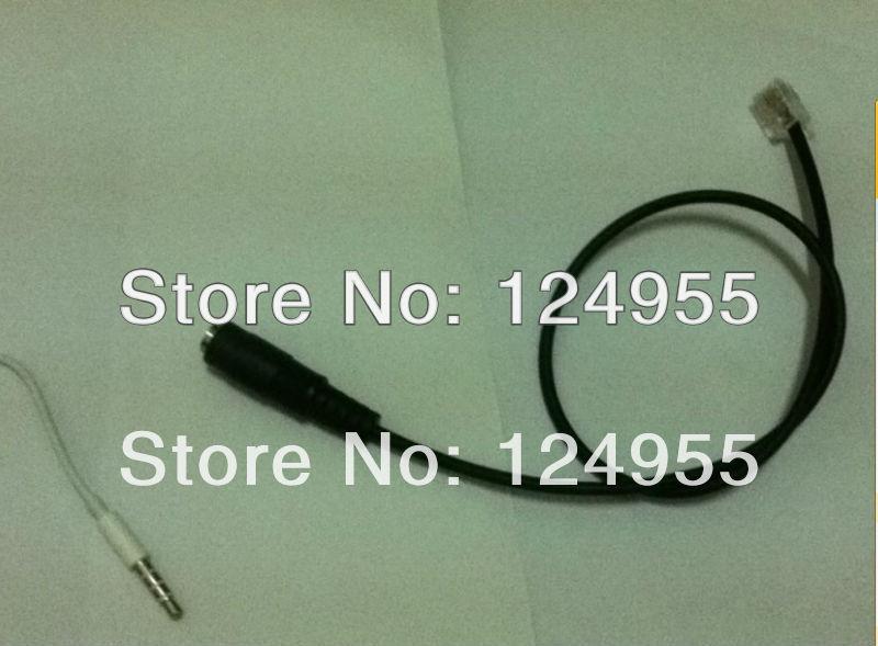Headset Buddy 3.5MM Headset To 8961 9951 9971 Cisco IP Phone Adapter Converter Jack RJ Plug Cable(China (Mainland))