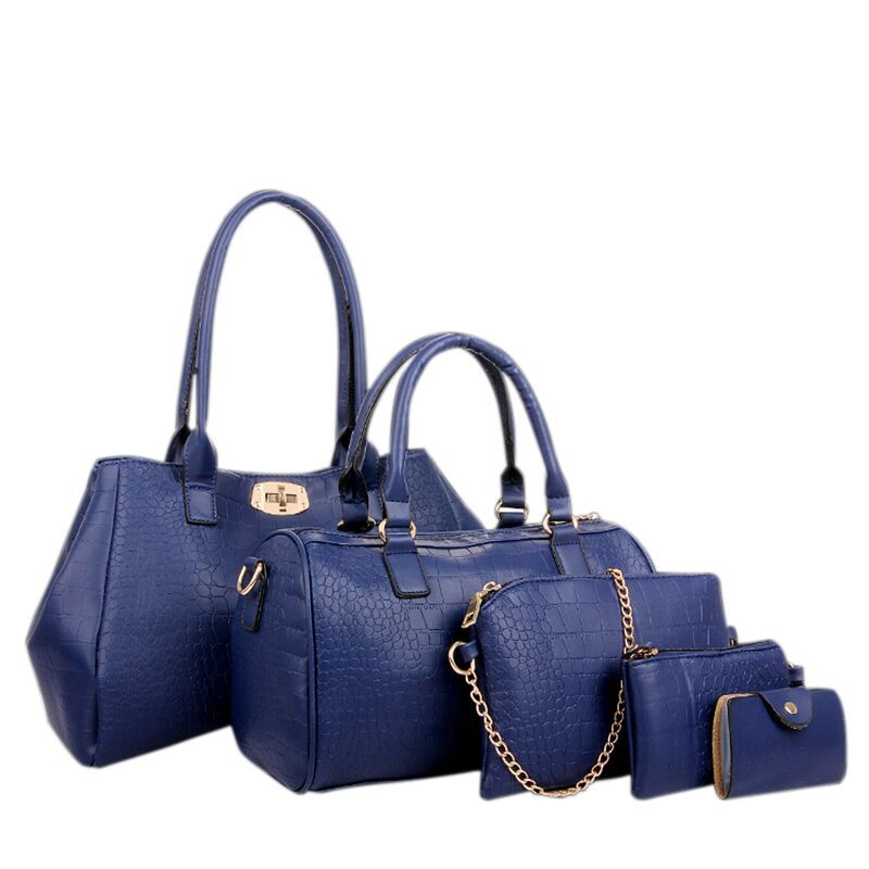 Здесь можно купить  5 Bags Crocodile Pattern Women Bag Stone Women Handbag Pu Leather Shoulder Bag Women Messenger Bags Lady Day Clutch Tote Bolsas  Камера и Сумки