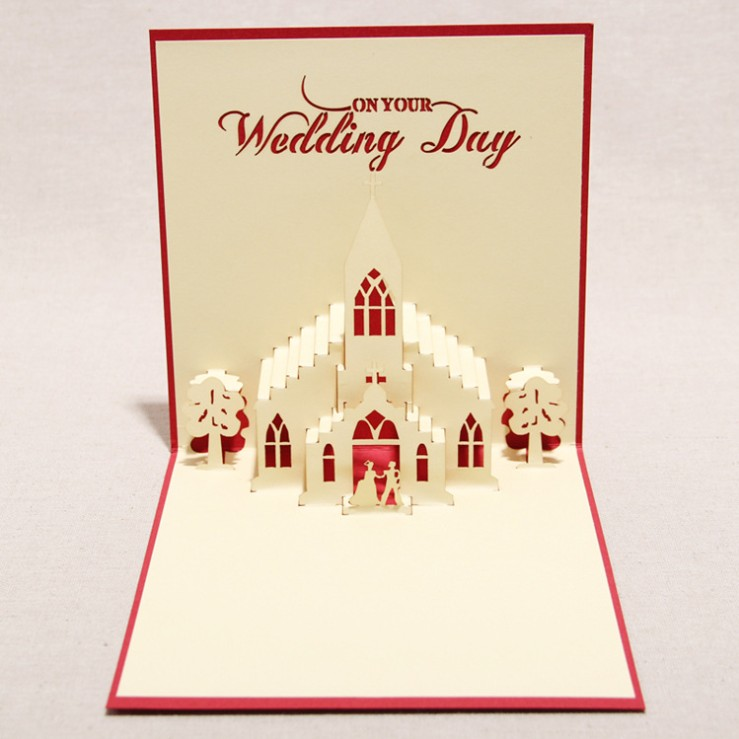 Romantic wedding 3d diy handmade birthday greeting card ...