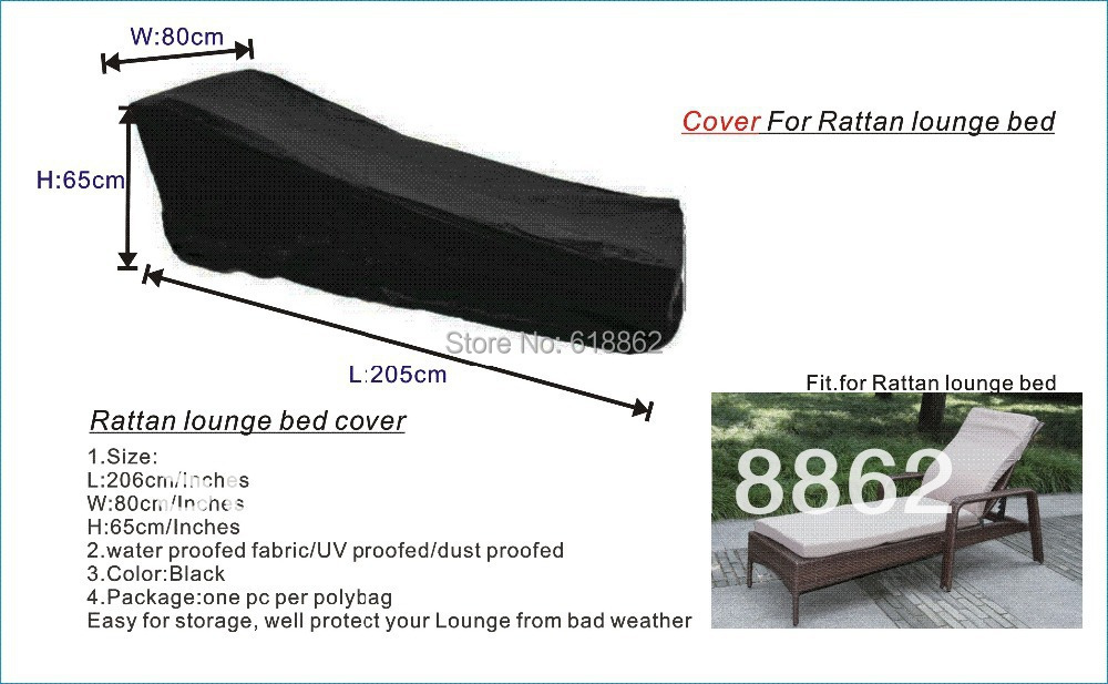 Free shipping Protectiive Cover for Rattan lounge bed ,garden furniture cover,water-proofed cover for outdoor furniture(China (Mainland))