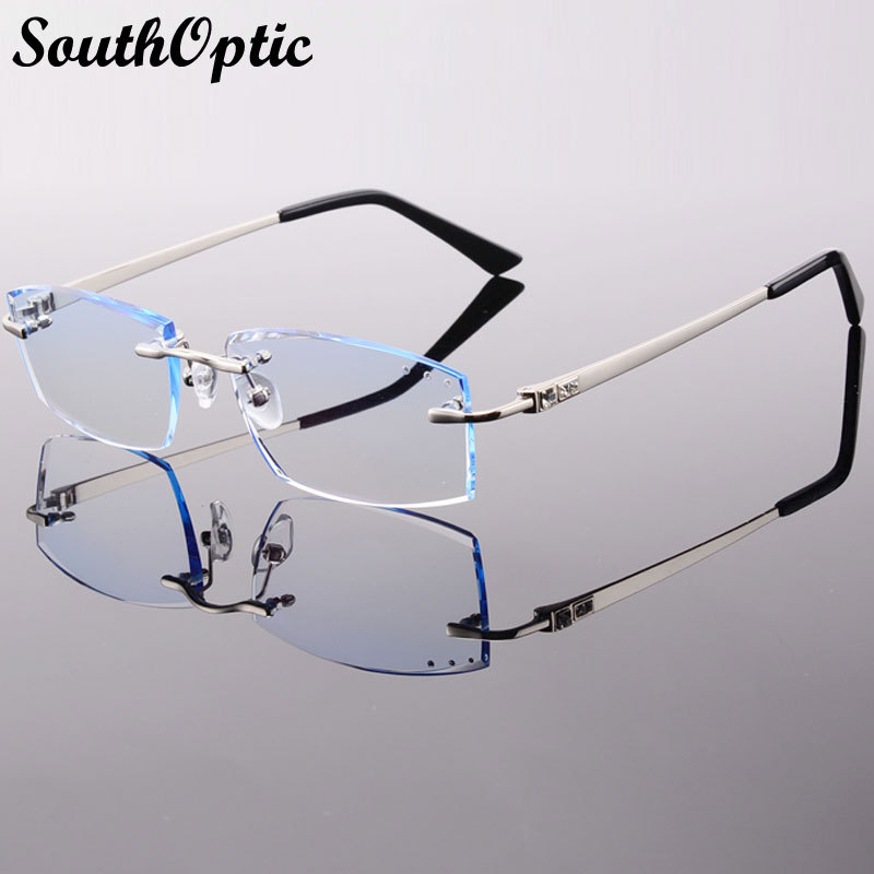 Rimless Phantom Korean Female Optical Frame Including 1.61 Asphereic Tinted Clear EMI Lens titanyum gozluk cercevesiz 8005