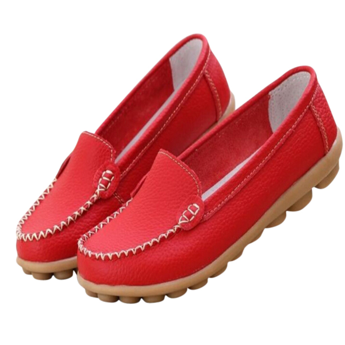 2015 New  Genuine Leather Women Shoes EURO 35~41 Causal Soft Woman's Flats 8 Colors Female Moccasins Sapatilhas Femininos XWD329(China (Mainland))