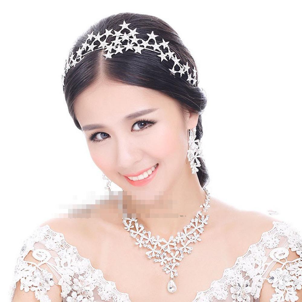 Fashion Bridal Headdresses Stunning Stunning Star Crystals Wedding Crown