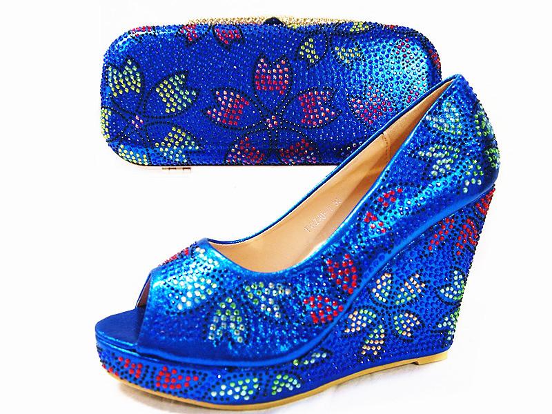 ซื้อ (JUNE02) 2016ผู้หญิงที่นิยมมากที่สุดรองเท้าและกระเป๋าให้ตรงกับชุด/สีม่วงสีจับคู่รองเท้าและกระเป๋าสำหรับออกแบบอิตาลี