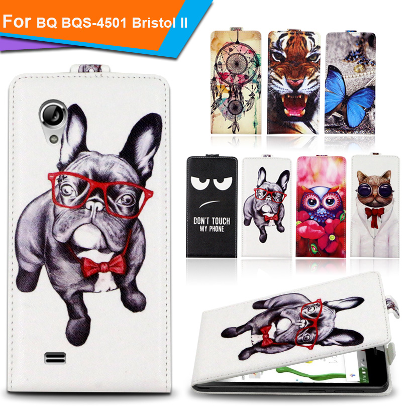 Newest 2016 For BQ BQS-4501 Bristol II Factory Price Luxury Cool Printed Cartoon 100% Special PU Leather Flip case,Gift(China (Mainland))