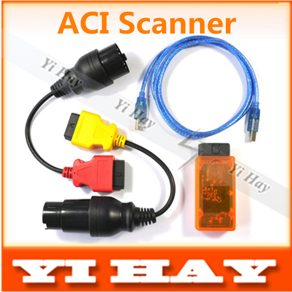 New ACI Scanner Auto Communication Interface with Full Adapters Competibale with Autoengiuity ACI scan tool free shipping(China (Mainland))