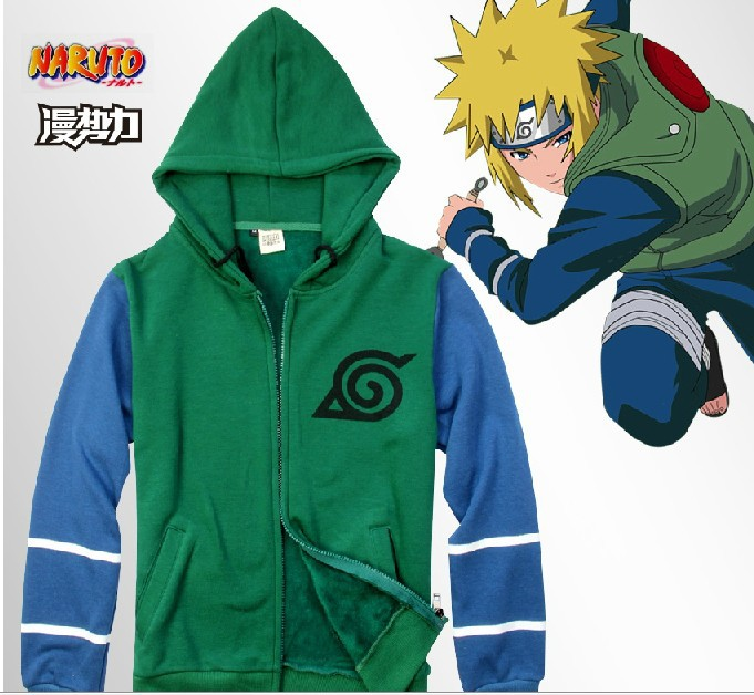 Naruto endure coat of fleece cardigan on tide; male and female clothing qiu dong sweethearts outfit is not velvet bag mail cos(China (Mainland))