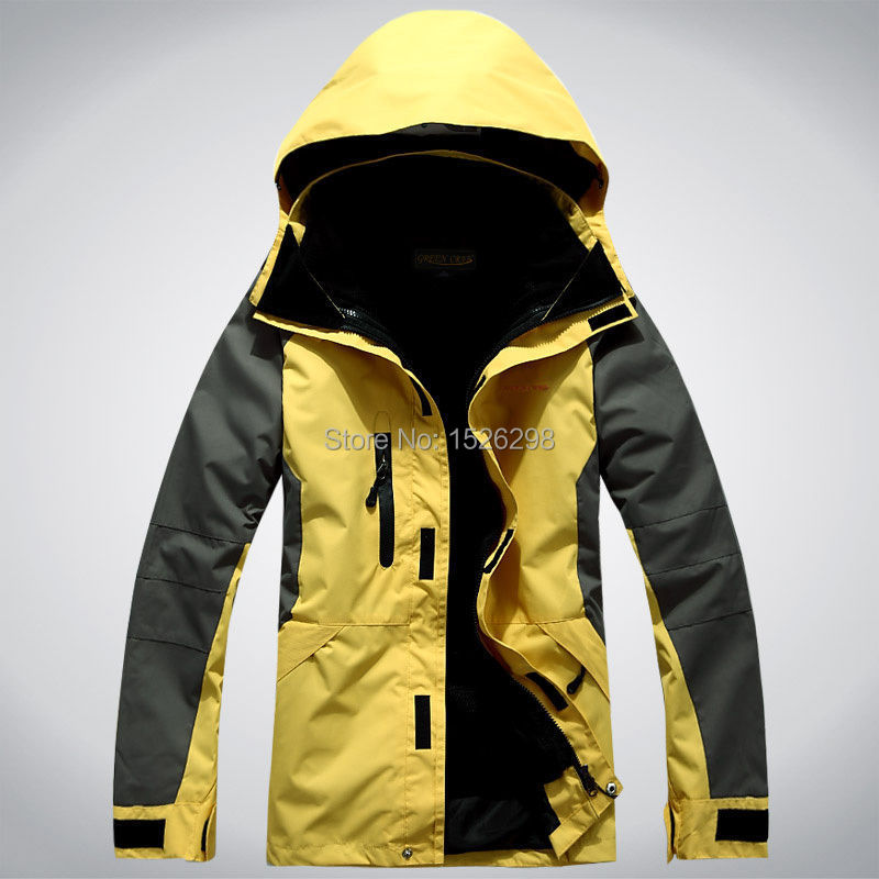 Mens 3in1 coat breathable windproof water resistant hooded for Mens fishing rain gear