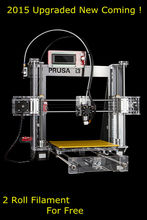 2015 Upgraded Quality High Precision Reprap Prusa i3 DIY 3d Printer kit with 2 Rolls Filament