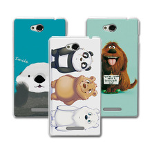 Buy Coque Sony S39h Case Cover New Style! Bear Carton, Hard PC Colorful funda Sony Xperia C S39H C2305 C2305 2305 Case capa for $1.89 in AliExpress store