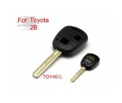 BRAND NEW Replacement Shell Remote Key Case Fob for TOYOTA With Uncut TOY40 BLADE 2 Button Length 45mm