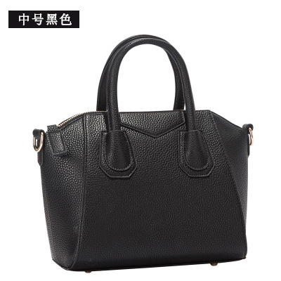 Single Zipper Female Large Black Totes Handbags 2016 New Women Solid Pu Leather Top-handle Bags Ladies Casual Tote Bags B003(China (Mainland))