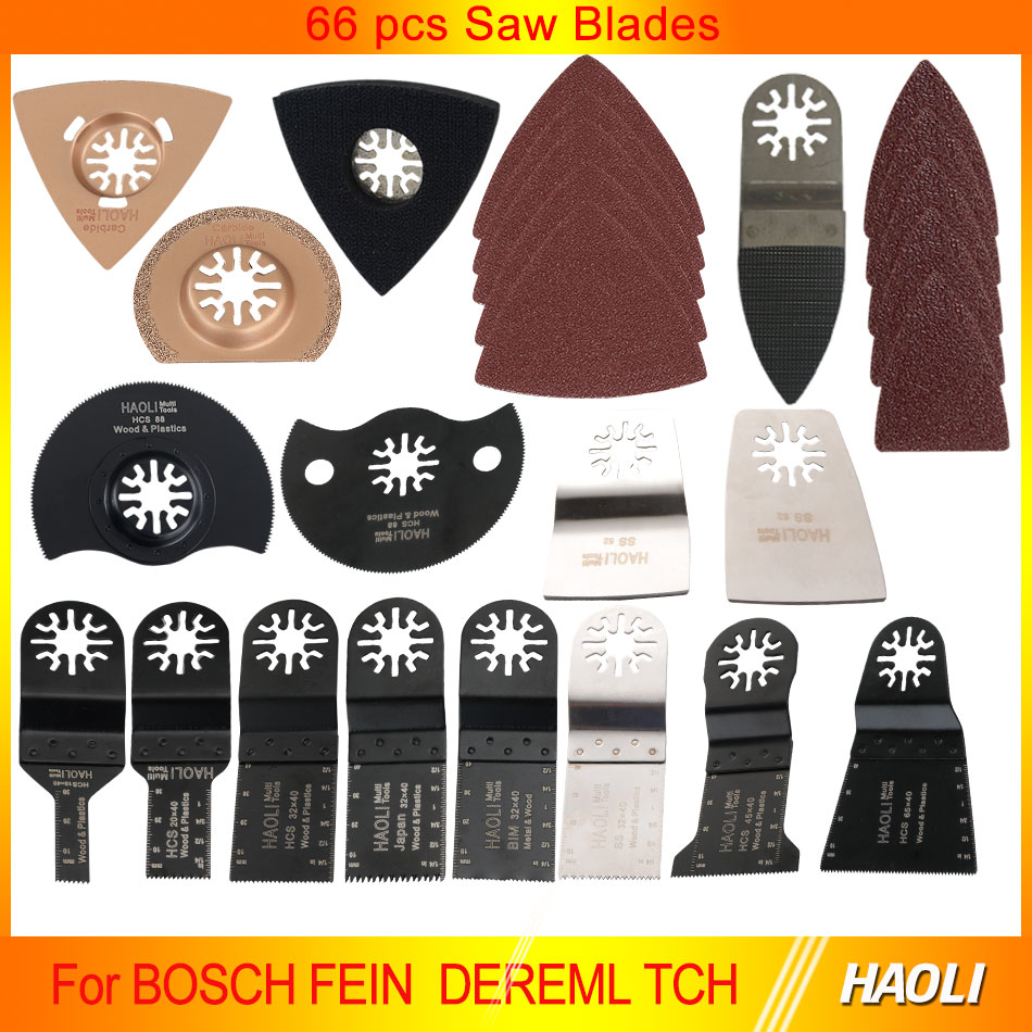 66 pcs oscillating tool saw blades for renovator power tools as Fein multimaster,Dremel,electric tools accessories(China (Mainland))