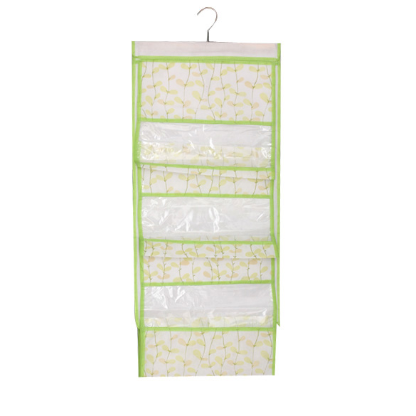 High Quality Hanging Purse Bags Closet Storage Handbags Container 5 Pockets Leaves Pattern LS(China (Mainland))
