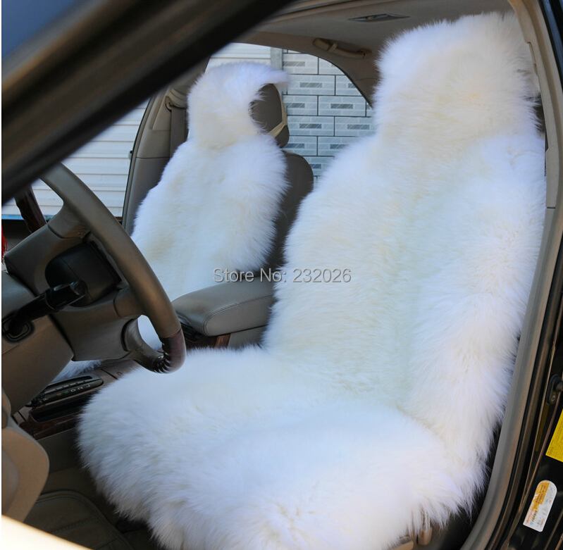 White Sheepskin Car Seat Covers