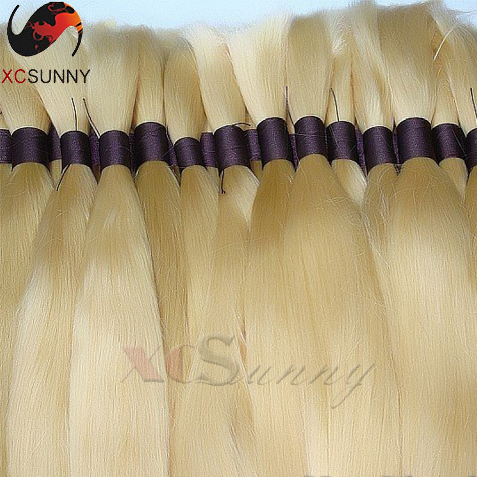 Factory Supply Unprocessed 8A Virgin Brazilian Bulk Hair for Braiding #613 Color Silky Straight 2Pieces/lot 200G/pack Hair Bulk