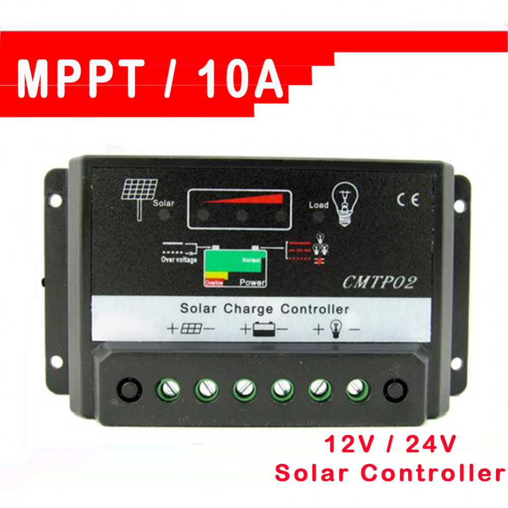 Auto Switch Solar Charge Controllers MPPT DC 0.8A 5V Panel Battery Regulator Controller 10A 12V/24V - Snow cute store