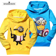 Minions t shirt top quality baby girl clothes despicable me children clothing costume boys t-shirts casual sweatshirts unisex(China (Mainland))