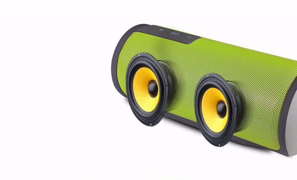 Super Bass Outdoor Portable Bluetooth Speaker 4.0 IPX4 Waterproof Wireless stereo sound box with DSP Noise Reduction Mic