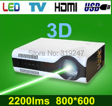 Brand New! Native 800X600 Great Mini Led Home Theater Projector With Perfect Display Effects,With HDMI+USB+Analog TV(China (Mainland))
