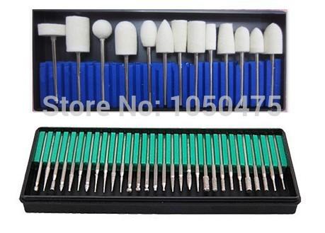 Free Shipping 30pcs nail drill bit +13 PcsNew 2014 Nail Drill Bit Set Manicure and Pedicure Accessories Nail File Nail Tools(China (Mainland))