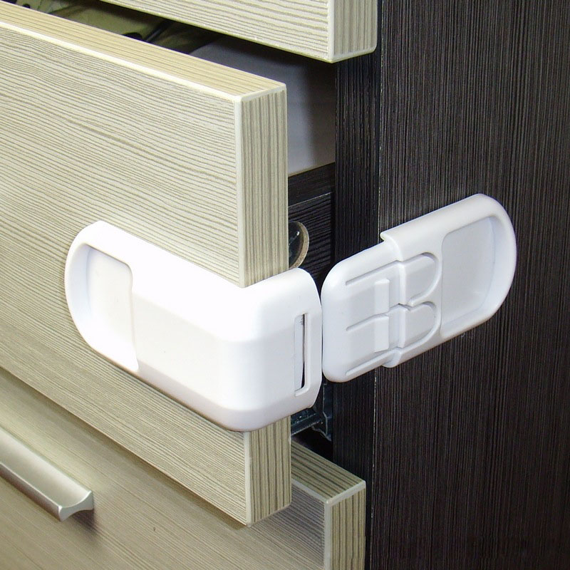 High Quality White Hard ABS Baby Child Kid Safe Safety Protection Drawer Cabinet Door Right Angle Corner Lock Security products(China (Mainland))