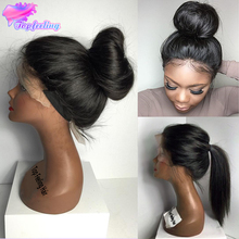 Short Full Lace Human Hair Wigs For Black Women Brazilian Virgin Hair Full Lace Wig With Baby Hair Silky Straight Lace Front Wig(China (Mainland))