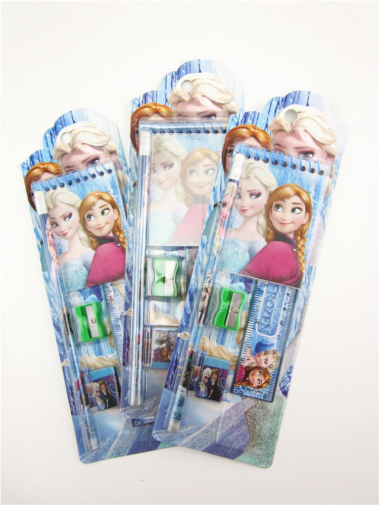 Гаджет  Elsa Anna pencil Stationery gift pencil case ruler sticker Gift  student pencil pencil Free Shipping  None Офисные и Школьные принадлежности