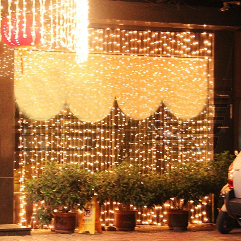 110V-or-220-240V-6M-3M-Many-Colors-LED-Curtain-Light-String-600-LEDs-Christmas-Xmas