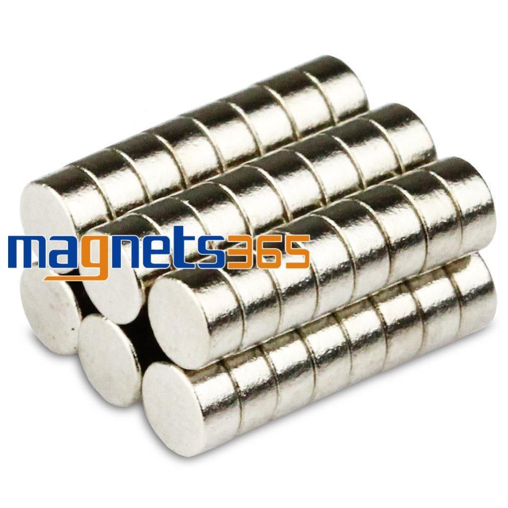 Гаджет  50 Pcs Strong Round Disc Rare Earth Neodymium Magnets 3mm x 1.5 mm Grade N50 None Строительство и Недвижимость