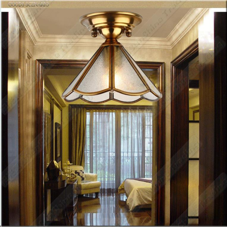 2015 new design dining room copper ceiling lamp balcony ceiling light