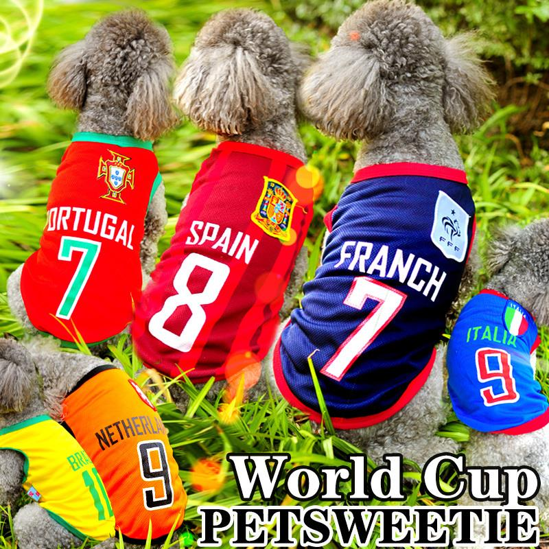 Гаджет  Free shipping Lefdy The World Cup Football Pet Vest Football Team Uniforms Shirt Fashion Cool Pet Clothing XS-4XL Dog Clothes None Дом и Сад