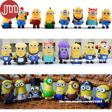 New 24 PCS Minions Collections Despicable Me 4-6cm Repeats Cosplay Minion Doll Action Figure Baby Toy 3D Eye Puppets Kids Gift(China (Mainland))
