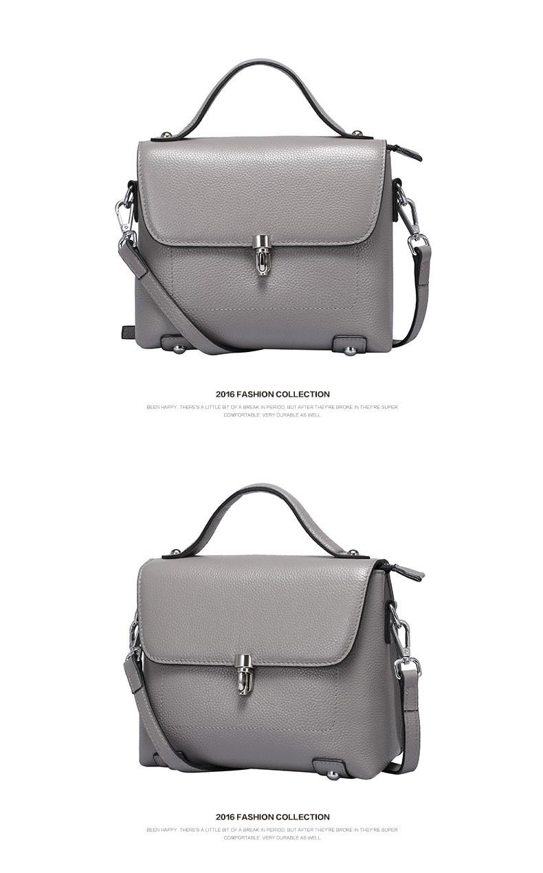 2016  new style women Genuine leather Crossbody Bag Fashion Small Women Shoulder Bag famous brand  luxury messenger bag