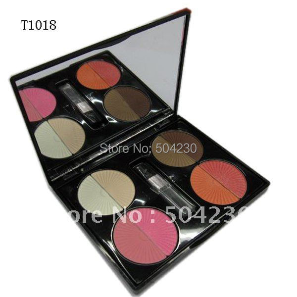 8 Colors Foundation Concealer Palette & Blush Blusher Makeup Rouge Palette Wholesale 4pcs/lot(China (Mainland))