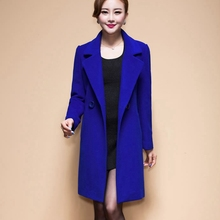 2016 New Fashion Women Woolen Coats High-end Elegant Long Slim Women Winter Jacket Royal Coats&Jackets Plus Size Femininos M-4XL(China (Mainland))