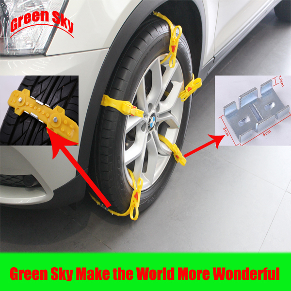 Snow/Mud/Ice/Desert Sand/Climbing Road Usage snow car chain wheel Free Shipping(China (Mainland))