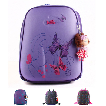 Ортопедические водонепроницаемый детей школьного сумки для девочек первичных 1-5 ...