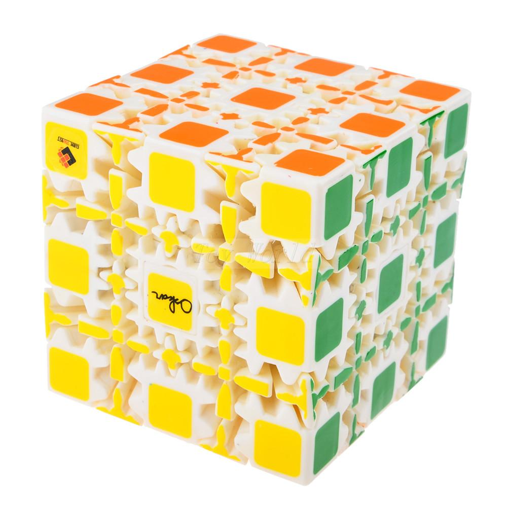 New brand CT&OSKAR 5x5x5 Gear Cube Magic Cube Painted Stickerless Twisty Puzzle 8cm - White Cubiks Juguetes Educativo(China (Mainland))
