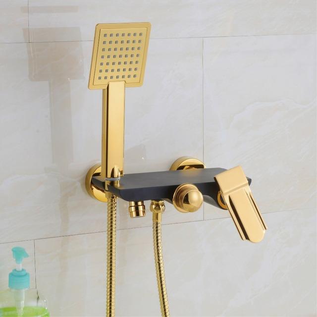 Juego De Baño Antiguo:antiguo orientable ducha de ahorro de agua Plate oro negro juego de