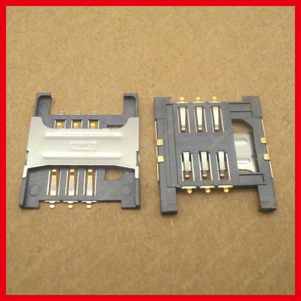 20pcs/lot Original New Mobile phone SIM card holder SIM card Slot for Lenovo A568t A788t K860I A3000-H A5000 Size:16*18.5mm