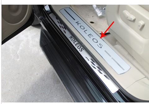 2009-2013 Renault Koleos High quality PVC internal Scuff Plate/Door Sill erw(China (Mainland))