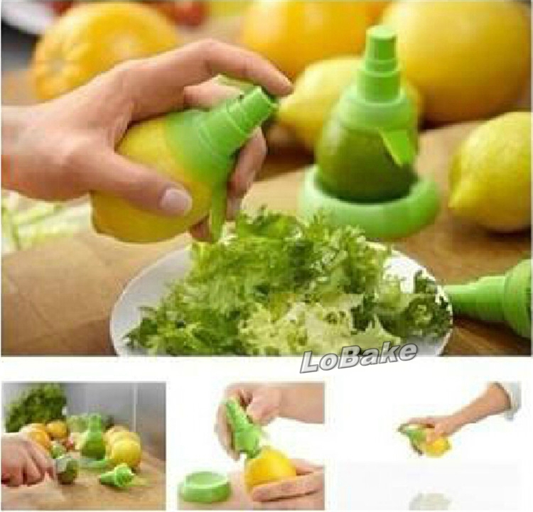 Unique plastic rubber manual lemon sprayer to spray lemon juice keep food fresh can be anti lady-killer spray kitchen tool(China (Mainland))