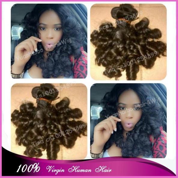 Best 7A Grade #1b spiral curls virgin brazilian hair 100%aunty funmi hair weaves for black women free shipping<br><br>Aliexpress