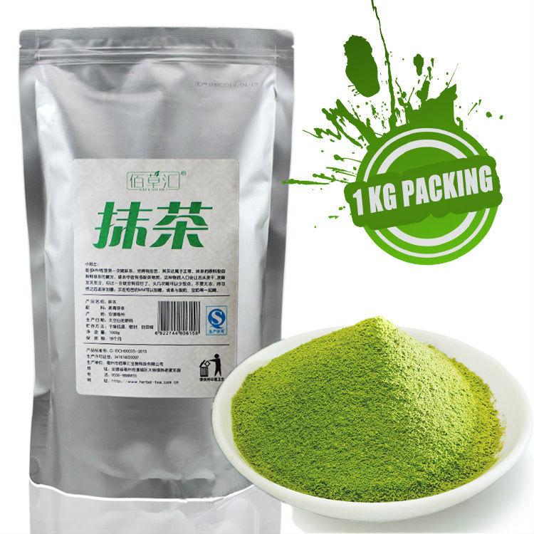 High Quality Matcha 1000g premium green tea powder 1kg Chinese Organic slimming food Free shipping(China (Mainland))