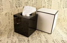2016 Luxury Tissue Holder High Gloss Arcylic Tissue Box Magnet Open Design Towel Tube Desk Decoration VIP Gift for Wedding Gift(China (Mainland))