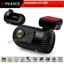 E-prance Mini 0805 Ambarella A7 LA50 Car DVR Camera Recorder Dashboard 2304*1296 30FPS Optional GPS/Internal 8GB(China (Mainland))
