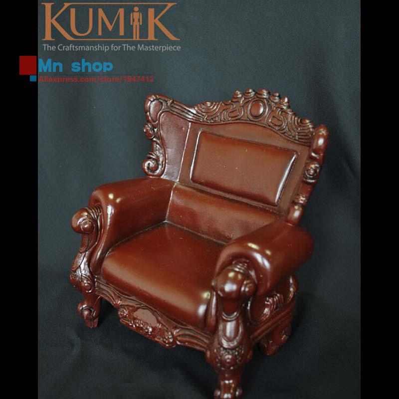 Figure Accessory Retro Furniture 1:6 Leather Single Sofa Armchair Sling Chair Couch Model Toys Collection Gift KUMIK AC-5/8(China (Mainland))
